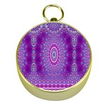 India Ornaments Mandala Pillar Blue Violet Gold Compasses Front