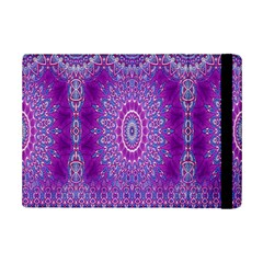 India Ornaments Mandala Pillar Blue Violet Ipad Mini 2 Flip Cases