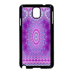 India Ornaments Mandala Pillar Blue Violet Samsung Galaxy Note 3 Neo Hardshell Case (black) by EDDArt