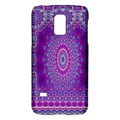 India Ornaments Mandala Pillar Blue Violet Galaxy S5 Mini