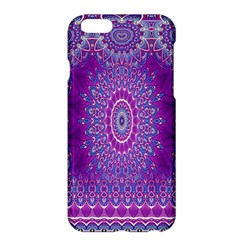 India Ornaments Mandala Pillar Blue Violet Apple Iphone 6 Plus/6s Plus Hardshell Case by EDDArt