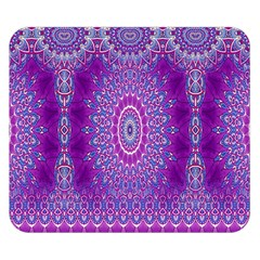 India Ornaments Mandala Pillar Blue Violet Double Sided Flano Blanket (small)  by EDDArt