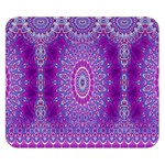 India Ornaments Mandala Pillar Blue Violet Double Sided Flano Blanket (Small)  50 x40 Blanket Front