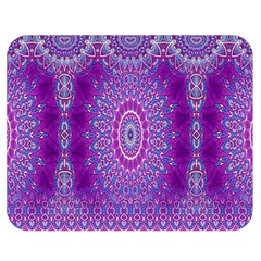 India Ornaments Mandala Pillar Blue Violet Double Sided Flano Blanket (medium)  by EDDArt
