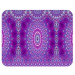 India Ornaments Mandala Pillar Blue Violet Double Sided Flano Blanket (Medium)  60 x50 Blanket Front