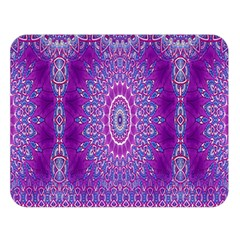 India Ornaments Mandala Pillar Blue Violet Double Sided Flano Blanket (large)  by EDDArt
