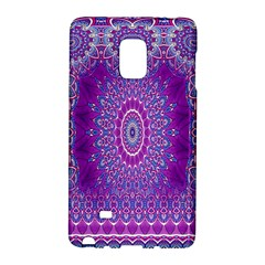 India Ornaments Mandala Pillar Blue Violet Galaxy Note Edge by EDDArt