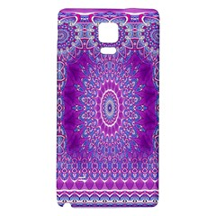 India Ornaments Mandala Pillar Blue Violet Galaxy Note 4 Back Case by EDDArt