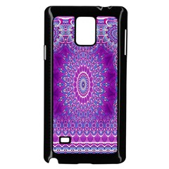 India Ornaments Mandala Pillar Blue Violet Samsung Galaxy Note 4 Case (black) by EDDArt