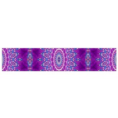 India Ornaments Mandala Pillar Blue Violet Flano Scarf (small) by EDDArt