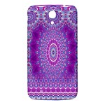 India Ornaments Mandala Pillar Blue Violet Samsung Galaxy Mega I9200 Hardshell Back Case Front
