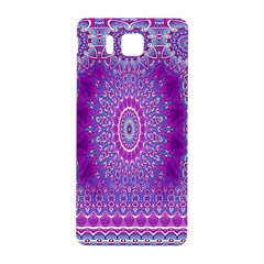 India Ornaments Mandala Pillar Blue Violet Samsung Galaxy Alpha Hardshell Back Case by EDDArt