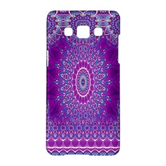 India Ornaments Mandala Pillar Blue Violet Samsung Galaxy A5 Hardshell Case  by EDDArt