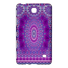 India Ornaments Mandala Pillar Blue Violet Samsung Galaxy Tab 4 (8 ) Hardshell Case  by EDDArt