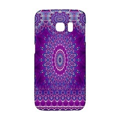 India Ornaments Mandala Pillar Blue Violet Galaxy S6 Edge by EDDArt