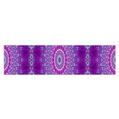 India Ornaments Mandala Pillar Blue Violet Satin Scarf (Oblong)