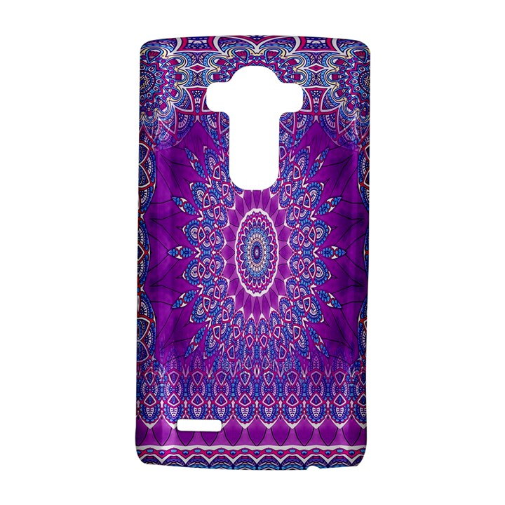 India Ornaments Mandala Pillar Blue Violet LG G4 Hardshell Case
