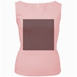 Sports Racing Chess Squares Black White Women s Pink Tank Top Front
