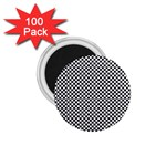Sports Racing Chess Squares Black White 1.75  Magnets (100 pack)  Front