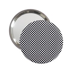 Sports Racing Chess Squares Black White 2 25  Handbag Mirrors by EDDArt