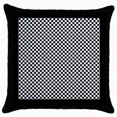 Sports Racing Chess Squares Black White Throw Pillow Case (black) by EDDArt
