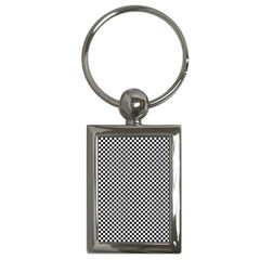 Sports Racing Chess Squares Black White Key Chains (rectangle)