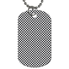 Sports Racing Chess Squares Black White Dog Tag (two Sides) by EDDArt
