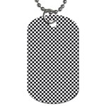Sports Racing Chess Squares Black White Dog Tag (Two Sides) Back