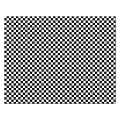 Sports Racing Chess Squares Black White Rectangular Jigsaw Puzzl by EDDArt