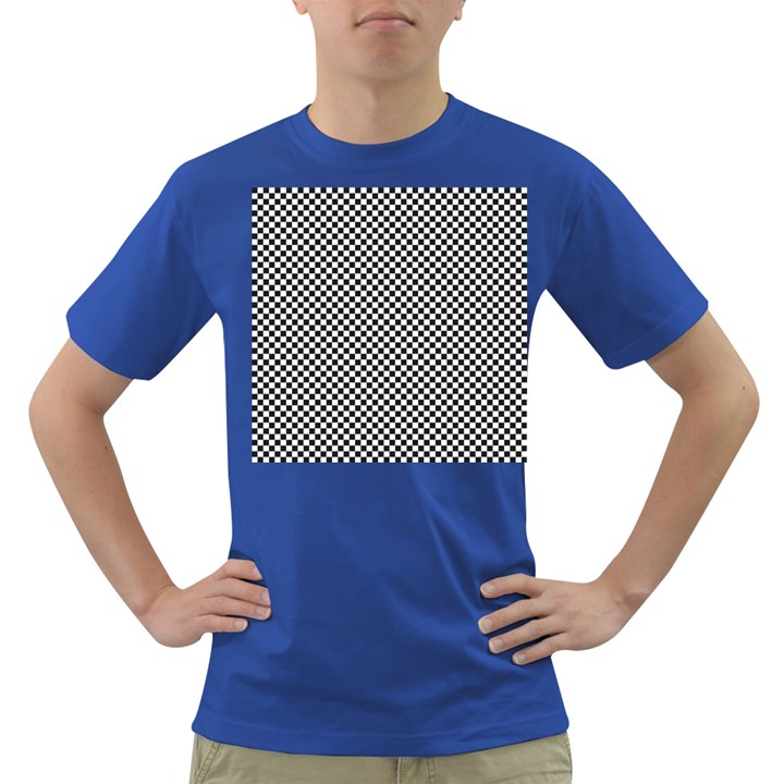 Sports Racing Chess Squares Black White Dark T-Shirt