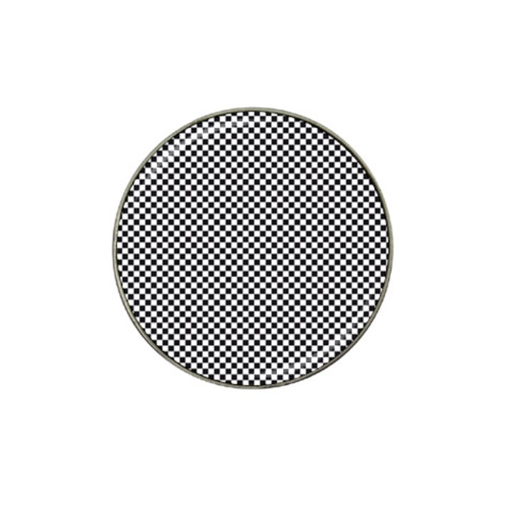 Sports Racing Chess Squares Black White Hat Clip Ball Marker (10 pack)