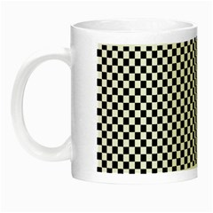 Sports Racing Chess Squares Black White Night Luminous Mugs by EDDArt