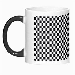Sports Racing Chess Squares Black White Morph Mugs