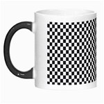 Sports Racing Chess Squares Black White Morph Mugs Left