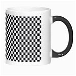 Sports Racing Chess Squares Black White Morph Mugs Right