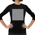 Sports Racing Chess Squares Black White Women s Long Sleeve Dark T-Shirts Front