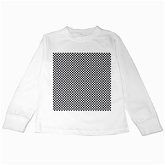 Sports Racing Chess Squares Black White Kids Long Sleeve T Shirts by EDDArt