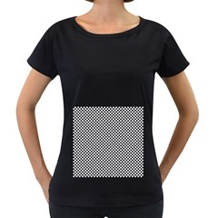 Sports Racing Chess Squares Black White Women s Loose Fit T Shirt (black) by EDDArt