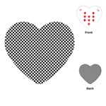 Sports Racing Chess Squares Black White Playing Cards (Heart)  Front