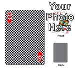 Sports Racing Chess Squares Black White Playing Cards 54 Designs  Front - HeartQ