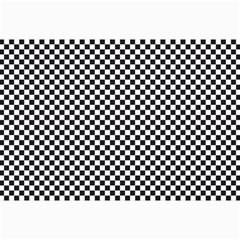 Sports Racing Chess Squares Black White Collage Prints by EDDArt