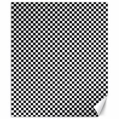 Sports Racing Chess Squares Black White Canvas 8  X 10  by EDDArt