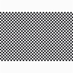 Sports Racing Chess Squares Black White Canvas 12  X 18   by EDDArt