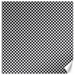 Sports Racing Chess Squares Black White Canvas 16  X 16
