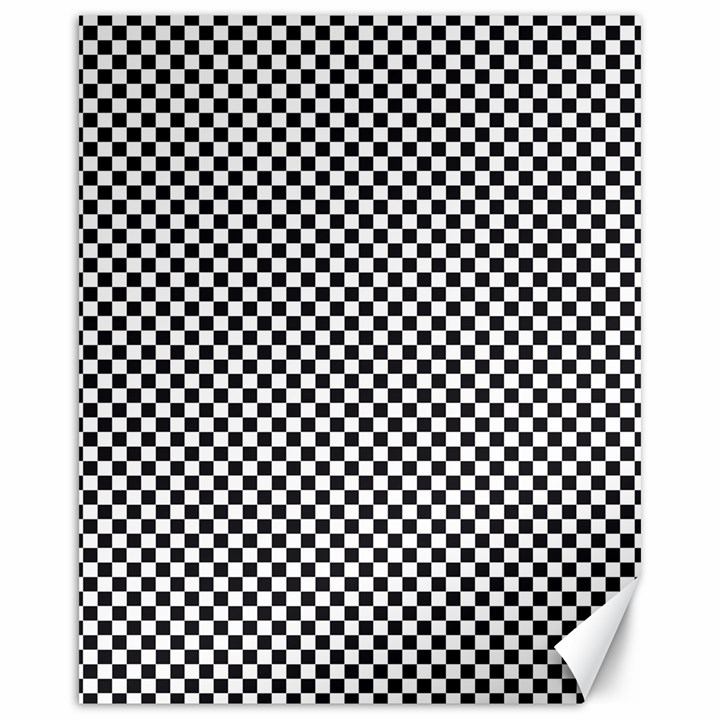 Sports Racing Chess Squares Black White Canvas 16  x 20