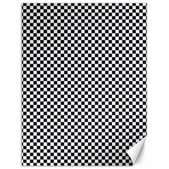 Sports Racing Chess Squares Black White Canvas 18  X 24