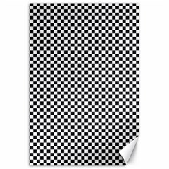 Sports Racing Chess Squares Black White Canvas 20  X 30   by EDDArt