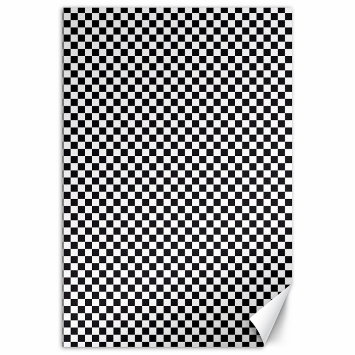 Sports Racing Chess Squares Black White Canvas 20  x 30