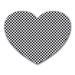 Sports Racing Chess Squares Black White Heart Mousepads Front