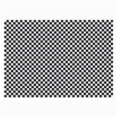 Sports Racing Chess Squares Black White Large Glasses Cloth (2 Side) by EDDArt